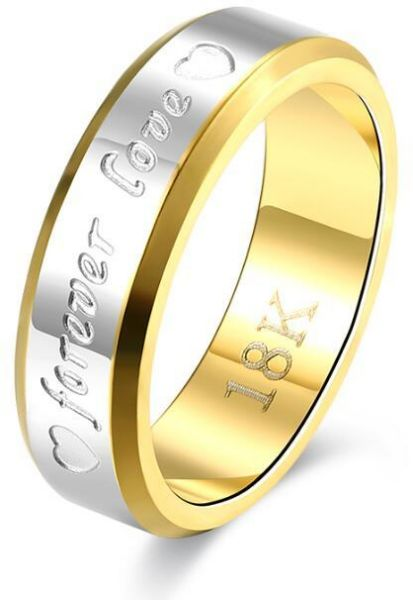Bfjoi Engraving Name Anniversary Rings For Women Men Gold Color