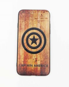 iPhone Case for iPhone 7 / 8 - Marvel super hero Captain America Logo Design Silicon case