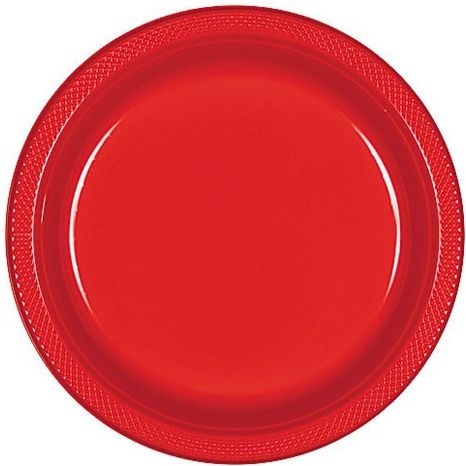 Souq| Amscan Apple 9 Inch Plastic Plates - Red | UAE