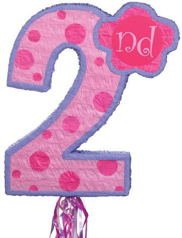 Buy Amscan 2nd Birthday Pink And Purple Dots Pinata In Egypt