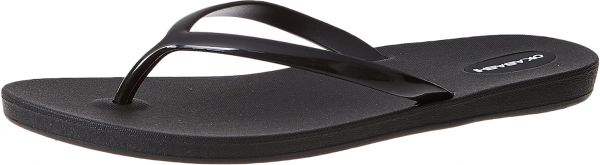 cfa792d7153 Okabashi Shoreline Duotone Flip Flops for Women - Black. by Okabashi