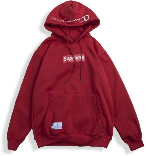 337acba9d04e Supreme X Champion Box Logo Hoodie for Unisex