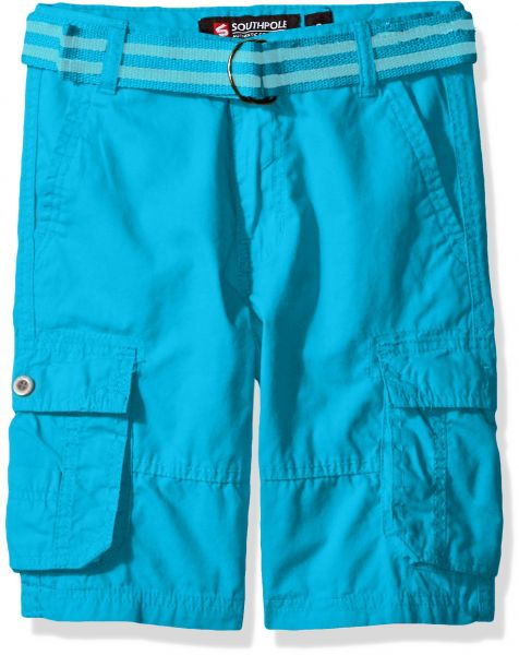 9d276e28ff Buy Southpole Boys' Belted Mini Canvas Cargo Shorts in Various Colors,  Ocean Blue, 16 - Shorts | UAE | Souq