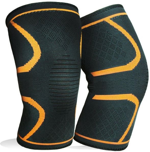 1 Pair Knee Brace Support Compression Sleeves Wraps Pads For