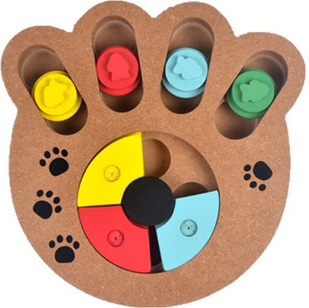 Interactive Toys for Dogs and Cats Food Treated Wooden Dog Toy Eco-friendly Puppy Pet Toy Educational Pet Bone Paw Puzzle Toy-xx