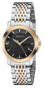 4d8c343432ca9 Gucci Stainless Steel Women s Black Dial Band Watch - YA126512