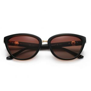 ed829ccb27 DONNA Women s Vintage Polarized Cat Eye Sunglasses Oversized Trendy  Celebrity Style D64(Brown)