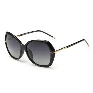 228d7f314429 DONNA Women s Classic Oversized Polarized Sunglasses Super Big Circle  Shades Ultralight D72(Black)