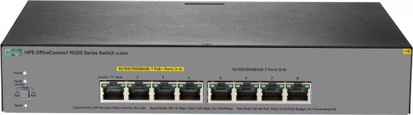 HPE OfficeConnect 1920S 8G PPoE+65W Switch JL383A