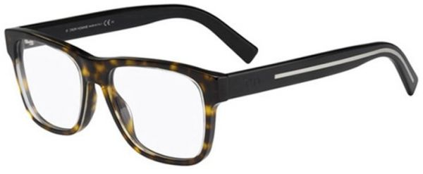 Christian Dior Men\'s Full Rim Wayfarer eyeglass Frame BLACKTIe197 ...