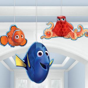 Amscan Finding Dory Honeycomb Decorations - 3 Pieces