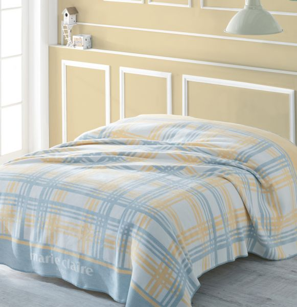 fe636a8498 Buy Marie Claire Kary Blanket - 150 x 200 cm - Blue Yellow in UAE
