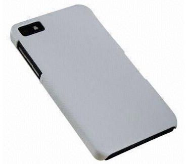 JZZS leather Back Cover for Blackberry Z10 - White