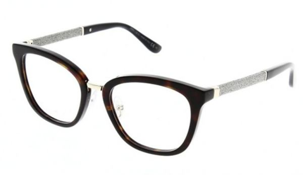 51b794cf2f0 Jimmy Choo Glasses Frame Square For Women - Brown