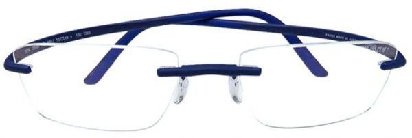 665ca36451a Silhouette Glasses Frame Rimless For Men - Blue