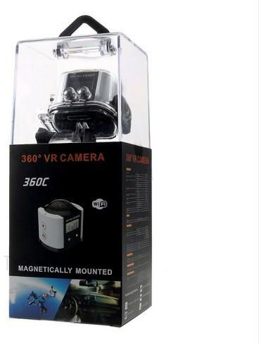 CREAT SEER 360 Degree All Viewer VR Camera 4K Full HD WiFi Waterproof  Sports Camera -Black / White
