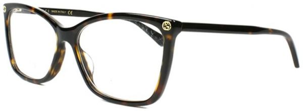 87efb2a0c98 Gucci Square Glasses Frame For Women - Brown