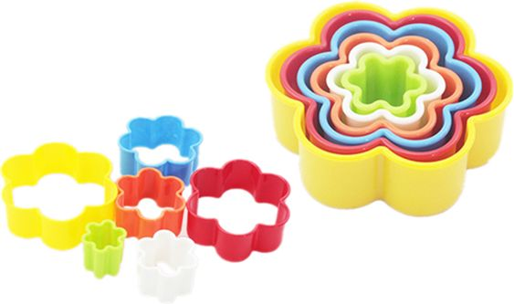 6PCS flower Shape Cookie Cutter Flower Cake Fondant Chocolate Mould Embossing