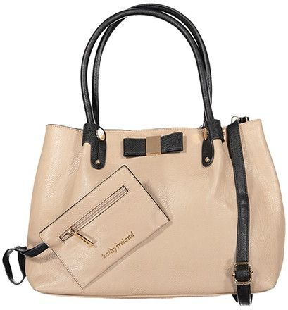 Kathy Ireland Bag For Women Taupe Satchels Bags