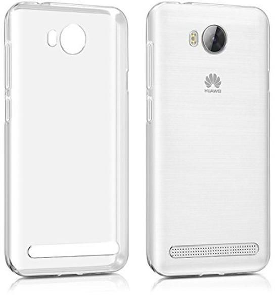 low priced 4649f 71d17 Huawei Y3II ( HONOR BEE 2) TPU Silicone Clear Case Back Cover by Muzz