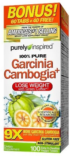 Garcinia Cambogia, 9x, with Green Coffee , 1600 Mg 100 Tablets