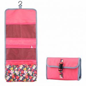 9a7716b7f71a Portable Waterproof Cosmetic Makeup Toiletry Travel Hanging Organizer  Storage Bag Pouch - Red