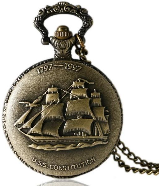 615fd9a36b16 1797-1997 U.S.S. Constitution Navy Ship Pocket Watch