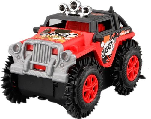 Red Sport Utility Vehicle Toy Car Rc Remote Control Jeep Pick Up For