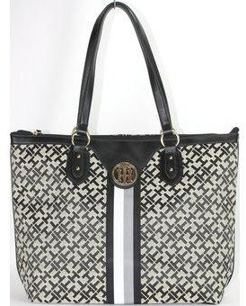 9ed5e55c3a4 Buy Tommy Hilfiger Bag For Women,Black   Cream - Tote Bags in Egypt
