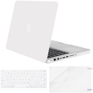 Mosiso Plastic Hard Shell Case with Keyboard Cover with Screen Protector Only for Old MacBook Pro 13 Inch with CD-ROM (Model: A1278, Version Early ...