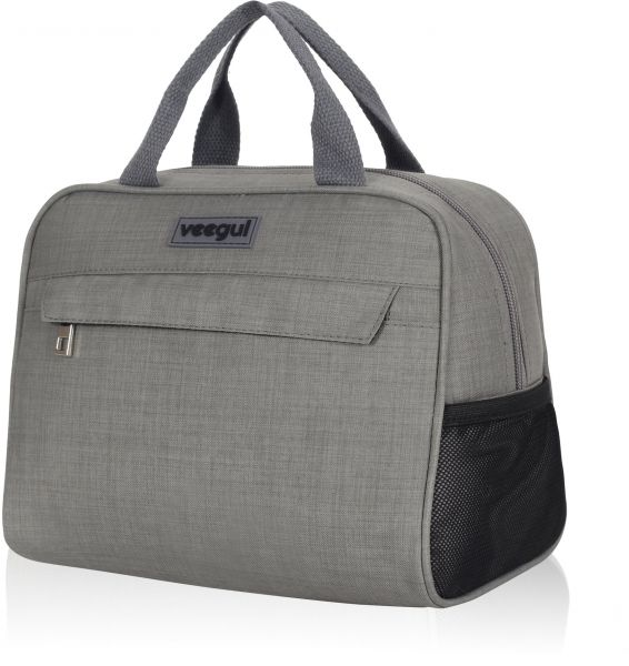 Veegul Recycle Cooler Insulated Lunch bag for Work School Outdoor Gray