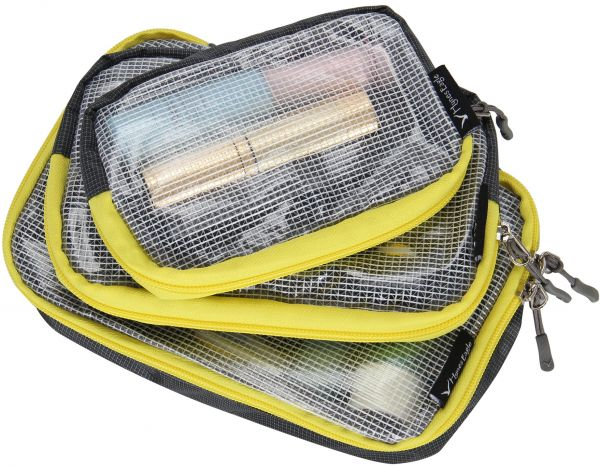 3e6db8d6b0d Hynes Eagle Multi-Purpose Travel Organizer Case Small Accessories Packing  Cubes 3 Pieces Set, Grey