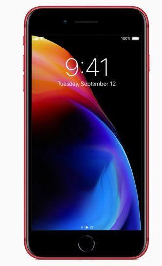 Apple Iphone 8 Plus With Facetime - 64 GB, 4G LTE, Red, 3 GB Ram, Single Sim