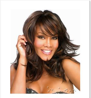 Women s Wig Fluffy Long Curly Layered Wig Brown with Black Highlights  Synthetic Full Wigs-xx  2c4b504c0