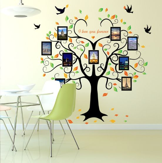 Family Photo Frame Tree Wall Stickers For Baby Bedroom Wall Decal ...