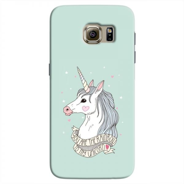 new concept f1eb9 1fa81 Cover it up Rainbow Unicorn Samsung Galaxy S7 Hard Case - Turquoise