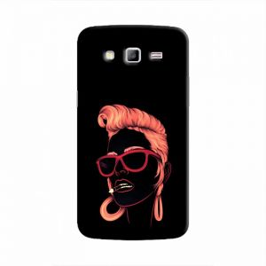 Cover it up Sketchy Girl Samsung Galaxy J7 Hard Case - Black
