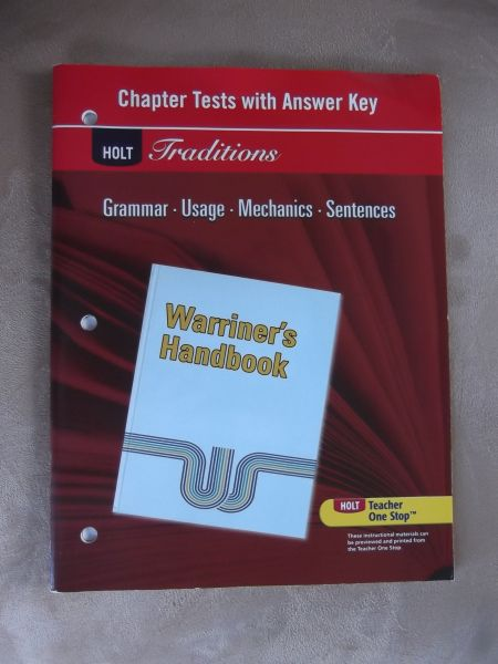 second course holt handbook answers