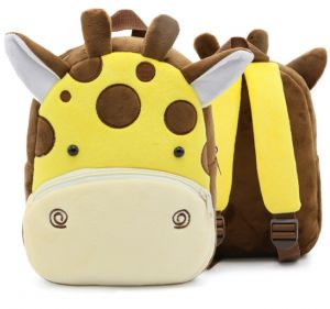 2566068dd4d1 hot Giraffe Backpack Plush Children Backpacks Kindergarten Schoolbag 3D  Cartoon Zoo Animal mochila infantil Children School Bags for Girls Boys