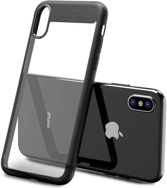 new product db257 27ffe Auto Focus Back Cover for iPhone X - Black