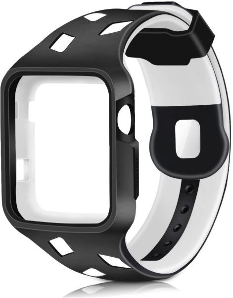 c250bba4b9fdc 42mm Shock-proof and Shatter-resistant Protective Case with TPU Sport iWatch  Replacement Band for Apple Watch Series 3/2/1 Sport and Edition 42mm ...