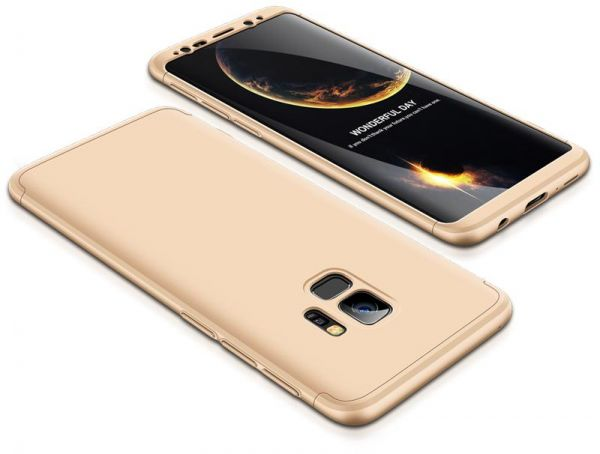 buy popular 6be85 f63ea Samsung Galaxy S9 Case, ultra Slim Gkk 360 Protection Cover Case - Gold