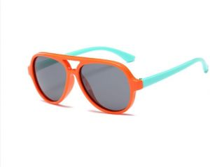 80a1ad6cc7 Kid s Colorful Silicone Retro Wayfarer Shades Polarized Sunglasses