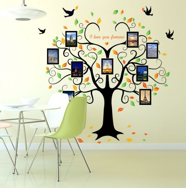 heart-shaped big tree bedroom wall sticker removable | souq - uae