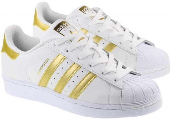 adidas Superstar Shoes for Men - White and Gold  a34c5f9ca6