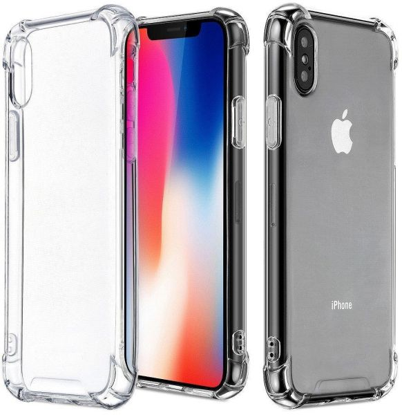 separation shoes dfc39 a3f51 For iPhone X Case / iPhone 10 Case, Crystal Clear Reinforced Corners TPU  Bumper Cushion Anti-scratch Hybrid Rugged Transparent Panel Cover for Apple  ...