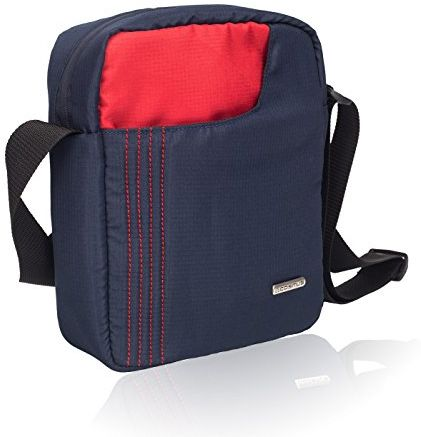 28f159e15cf2 COSMUS Polyester 6 Ltr Navy Blue-Red Messenger Bag