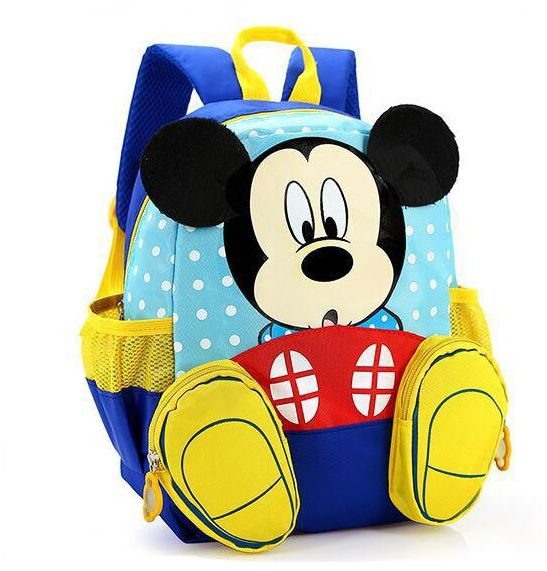 Childrenu0027s Cartoon Mickey Mouse Polyester Baby Book Bag For Boys And Girls  Kids School Backpack