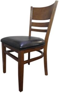 Solid Wooden Dining Chair Brown