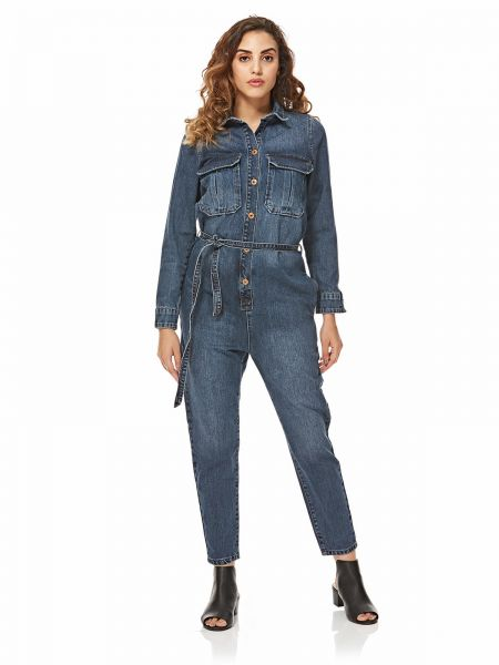 43a2ba19ca Mango Straight Jumpsuit for Women - Denim